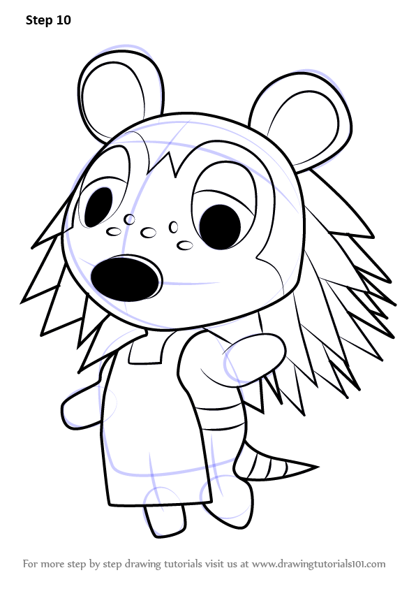 Learn How To Draw Sable From Animal Crossing Animal