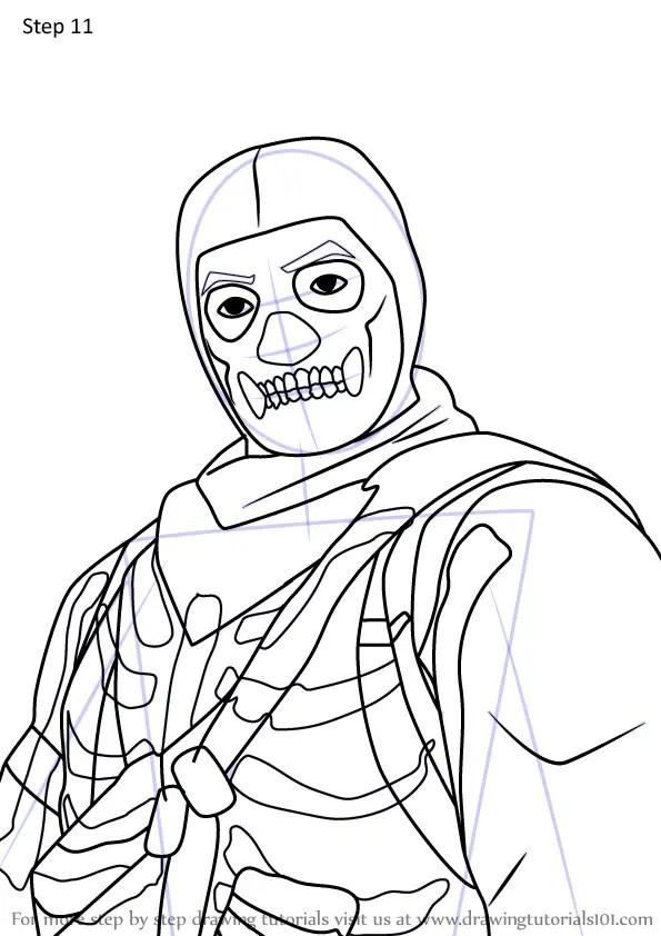Skull Trooper Coloring Pages Fortnite