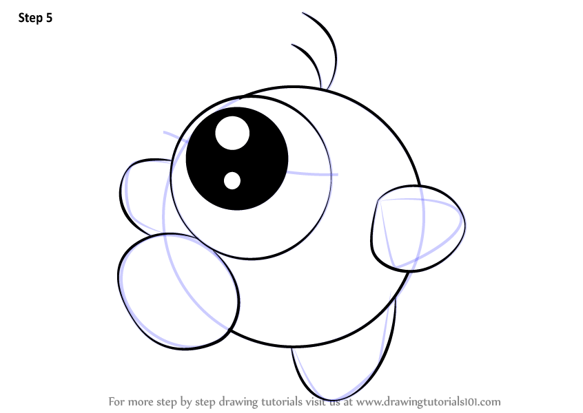 Learn How To Draw Waddle Doo From Kirby Kirby Step By