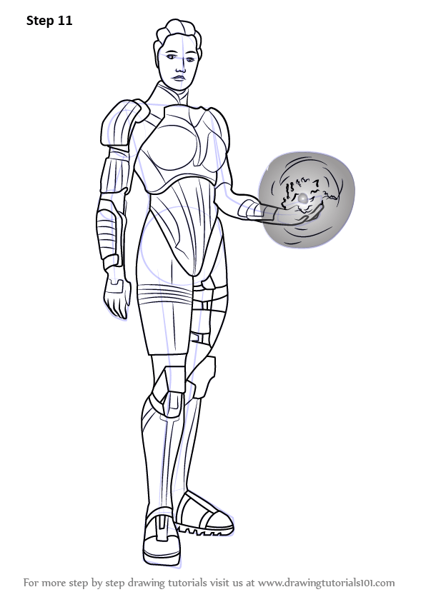 Learn How To Draw Liara TSoni From Mass Effect Mass