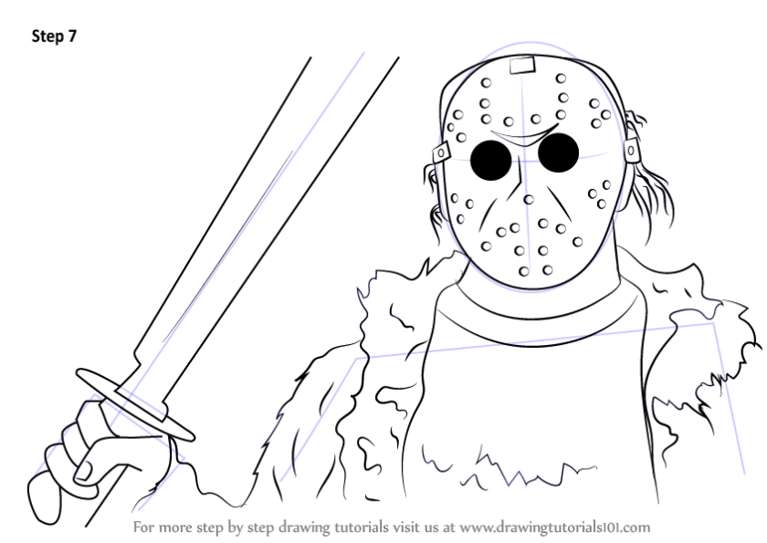 stepstep how to draw jason voorhees from mortal kombat