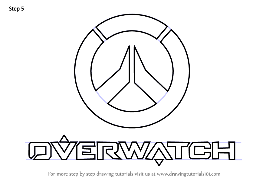 Learn How To Draw Overwatch Logo Overwatch Step By Step