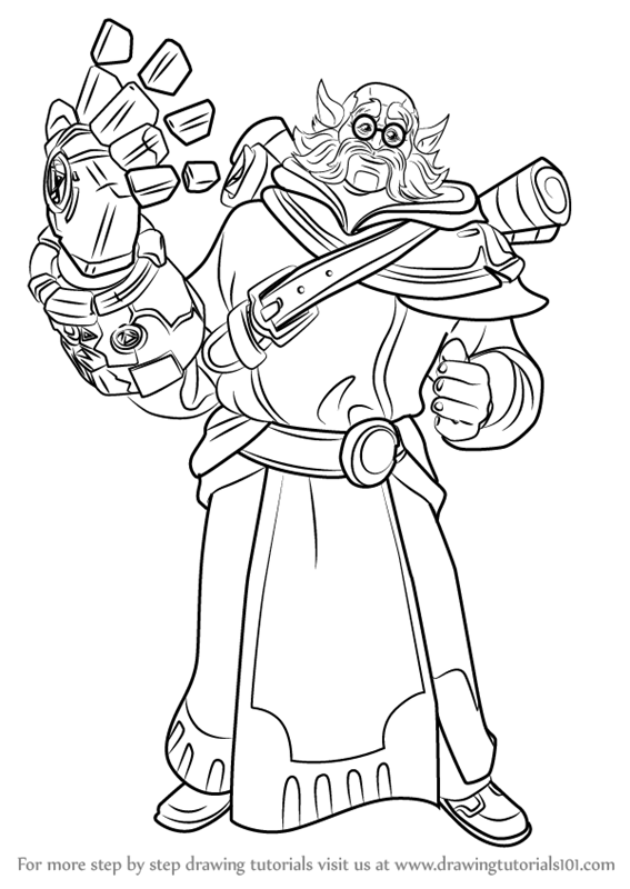 Learn How To Draw Torvald From Paladins Paladins Step By