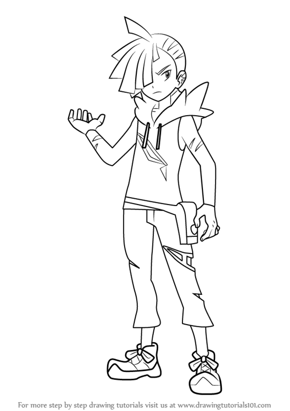 learn how to draw gladion from pokemon sun and moon