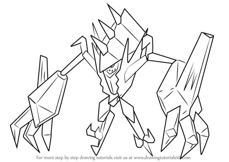 Learn How To Draw Necrozma From Pokemon Sun And Moon Pokemon Sun And Moon Step By Step Drawing Tutorials