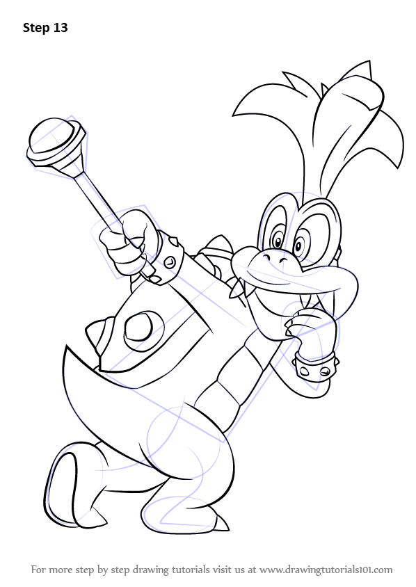 Learn How To Draw Iggy Koopa From Super Mario Super Mario