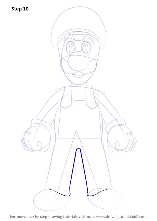 Drawing Super Plant Piranha Mario