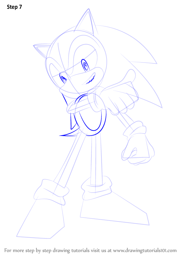 Learn How To Draw Sonic From Super Smash Bros Super Smash