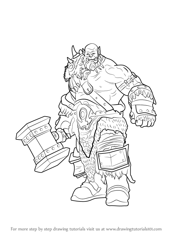 Learn How To Draw Durotan From Warcraft Warcraft Step By
