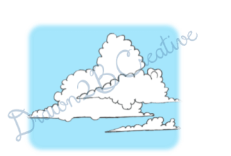Clouds Clip Art- Ink and Digital Coloring