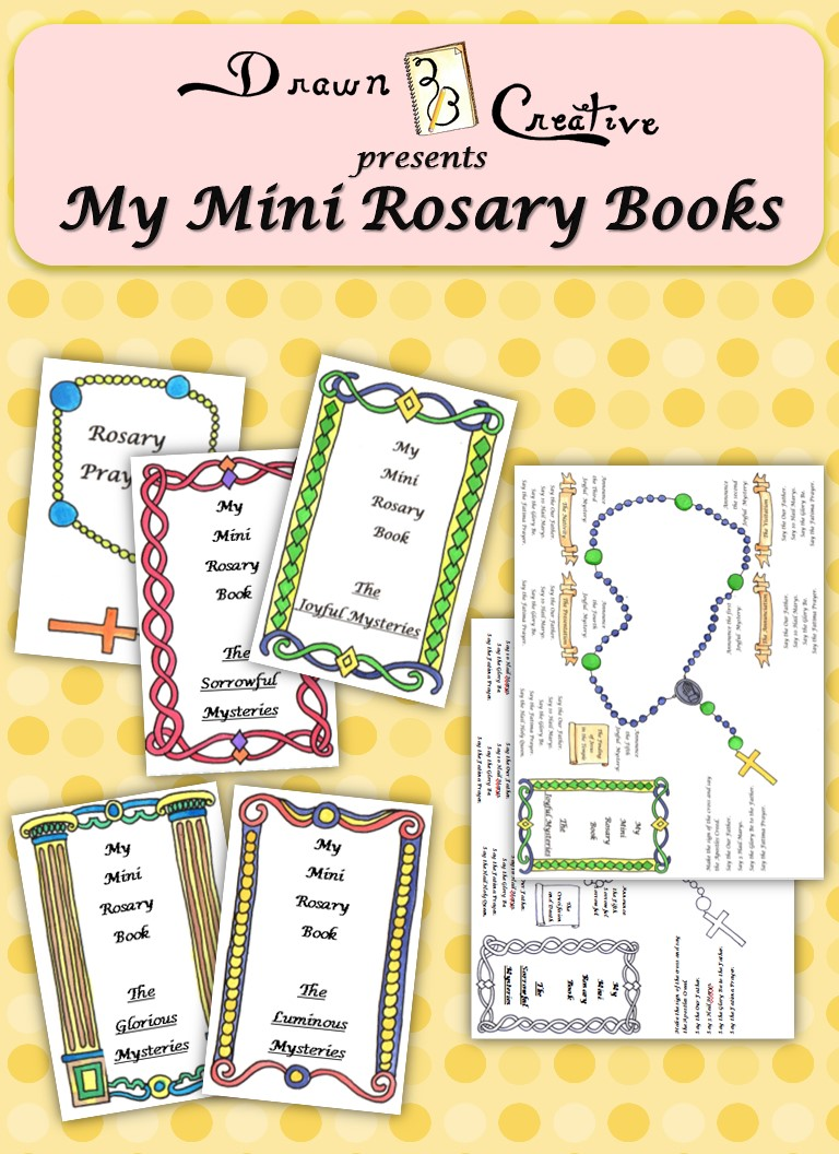 photo relating to How to Pray the Rosary for Kids Printable called My Mini Rosary Textbooks - Drawn2BCreative