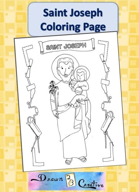 Saint Joseph Coloring Page
