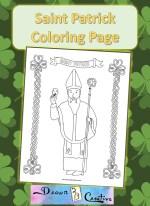 Saint Patrick Coloring Page