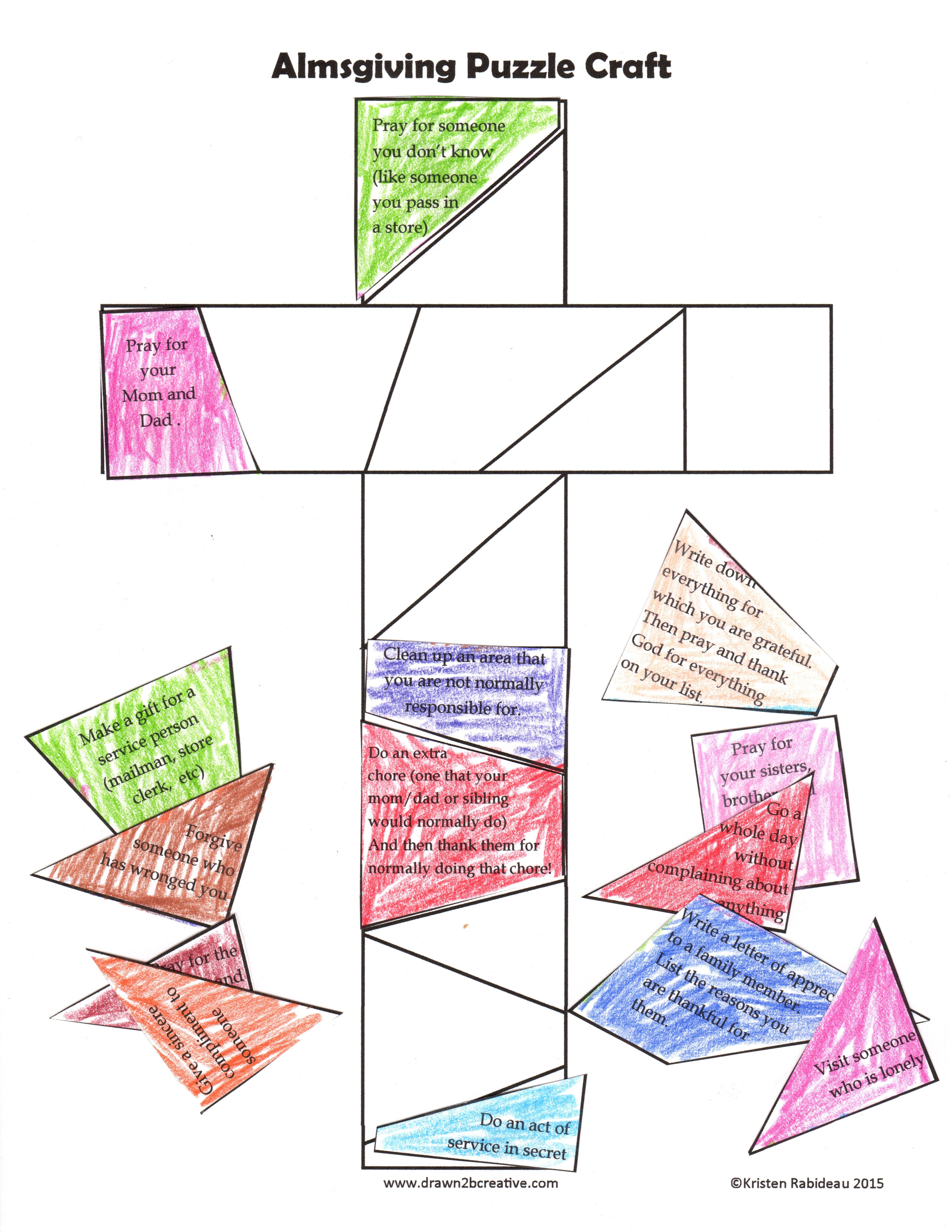40 Days Of Free Lenten Printables Almsgiving Cross Puzzle
