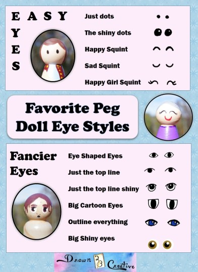 Peg Doll Faces Printable Guide And Planner Drawn2bcreative