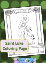 Saint Luke Coloring Coloring Page badge