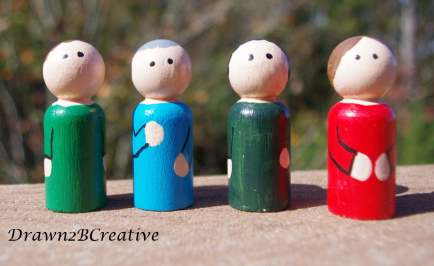 little peg people with no faces