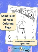 Saint Felix of Nola Coloring Page