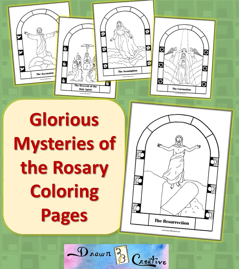 photo relating to Luminous Mysteries of the Rosary Printable titled Totally free Printable Mysteries of the Rosary Coloring Web pages