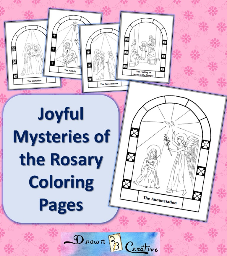 The Second Joyful Mystery Of Rosary Visitation Coloring Page
