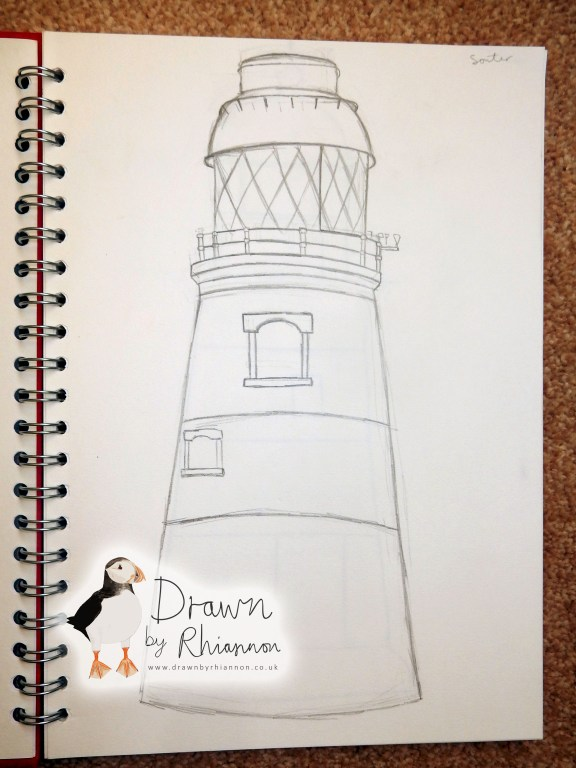 Souter lighthouse drawing