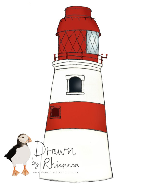 Souter lighthouse coloured in