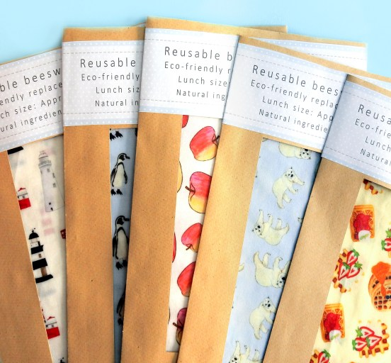 Reusable beeswax food wraps - Drawn by Rhiannon environmental policies