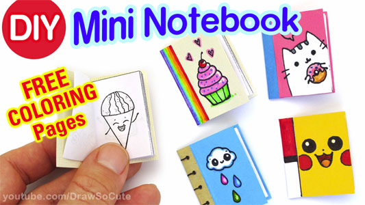 How to Make a Mini Notebook Draw
