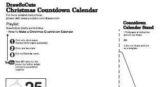 Christmas Countdown Calendar Draw So Cute