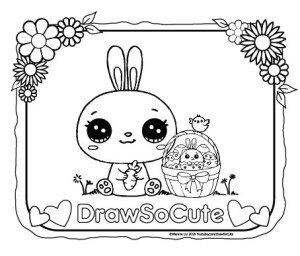 Sweet and sunny spring & Easter coloring pages | 256x300