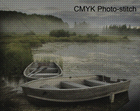 CMYK (Cyan, Magenta, Yellow, Black) photo-stitch