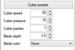 Cutter Presets