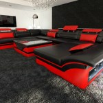 Showing Gallery Of Red Black Sectional Sofas View 16 Of 20 Photos
