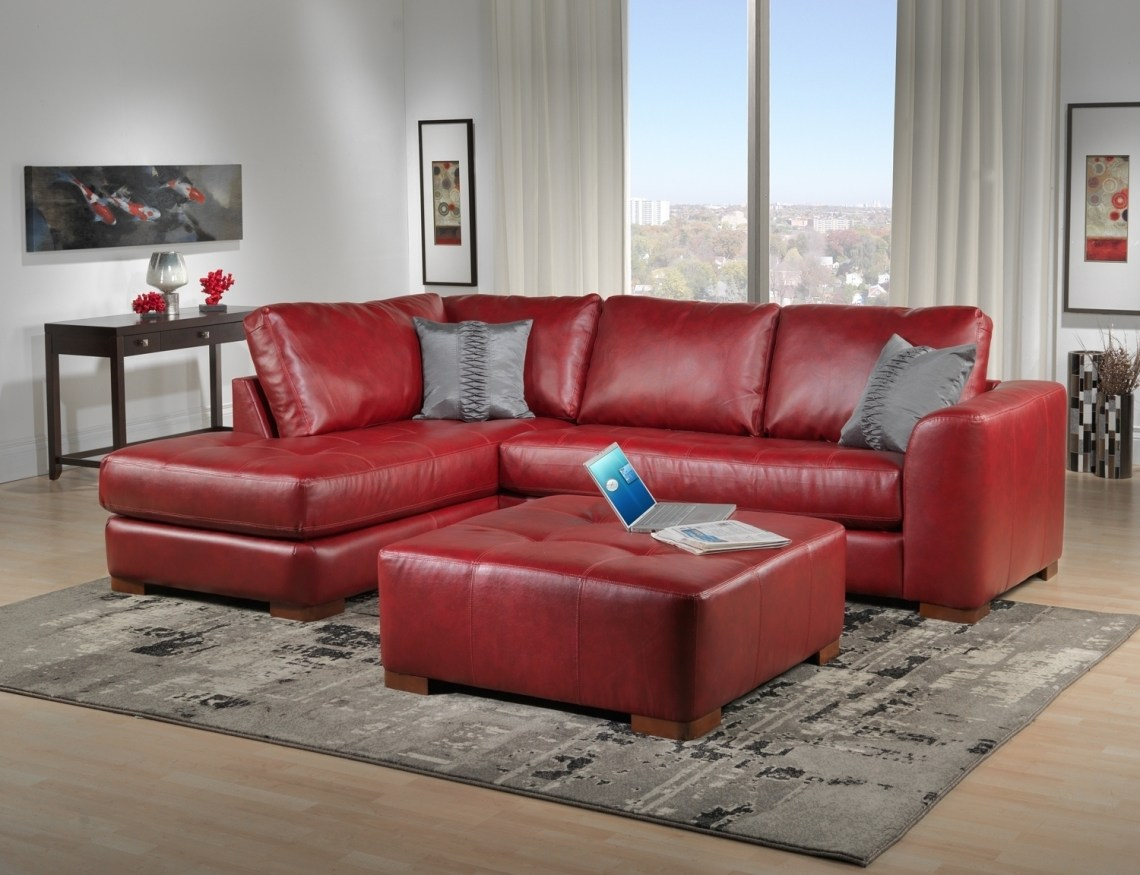 Explore Photos Of Red Leather Couches Showing 9 Of 20 Photos