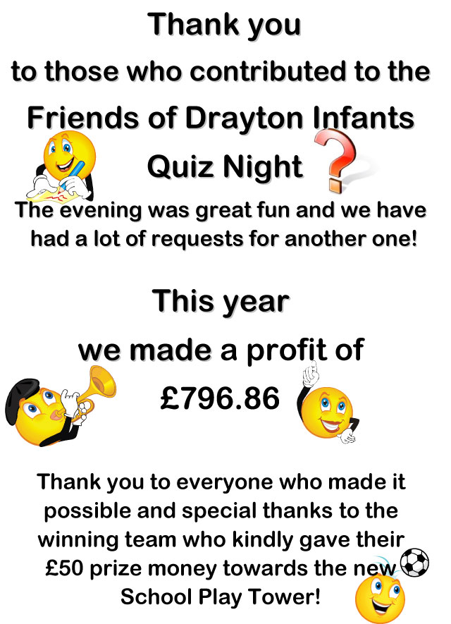 Quiz Night Thank You