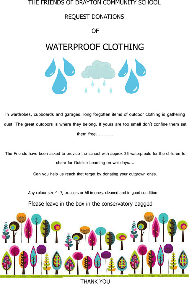 Waterproof Clothing Donations
