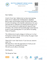 Reception Celebrations Letter