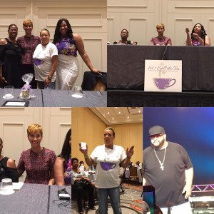 """Dr. Candice, panelist for the Allstate Tom Joyner Family Reunion-Monica May's """"Let's Spill the Tea: The things your mom never told you."""""""