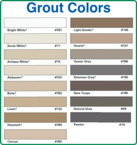 Grout color chart 283x300 dr chemdry