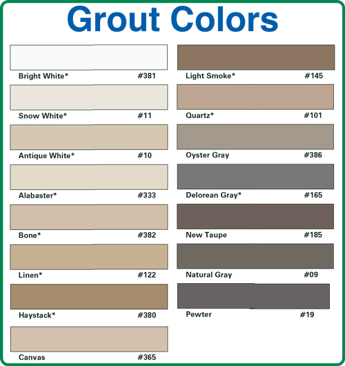 Grout Color Chart Dr Chemdry
