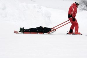 Skier carried down mountain