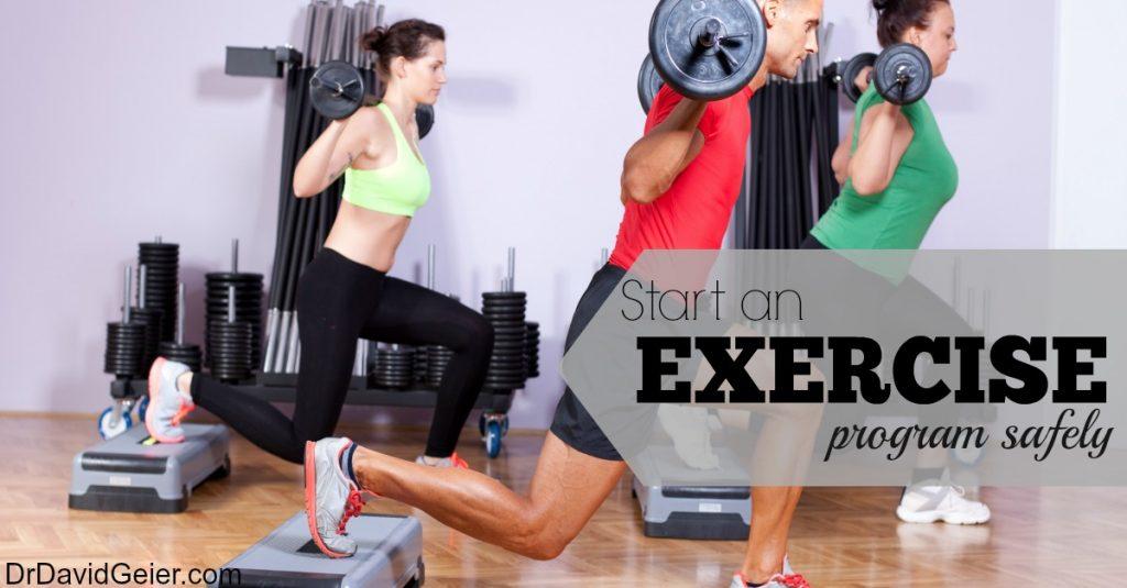 Start A Training Or Workout Program Safely Dr David Geier Sports Medicine Simplified