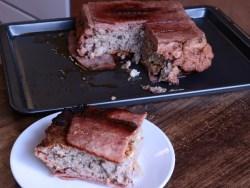 Bacon sausage meatloaf