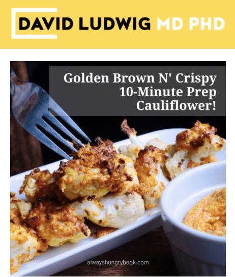 Golden Brown 10-minute Prep Cauliflower Newsletter