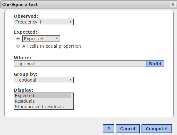 Chisquare Goodness of Fit test – Chi Square Worksheet