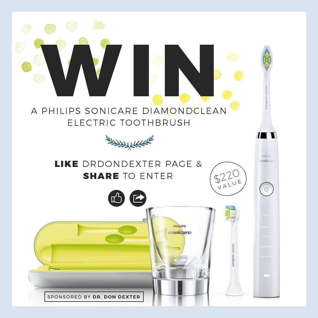 Eugene Dentist Dr. Dexter's Philips Sonicare DiamondClean Electric Toothbrush Giveaway