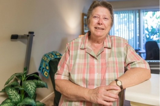 Lee Marquardt, 74, at the Triangle Square Apartments in Los Angeles, California, in August 2016. Marquardt moved into the apartment building two years ago. She said she didn't want to spend her elder years hiding her true self as she had as a younger woman.