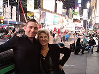 Dr Grant Hamlet and Dr Marie DiLauro on 42nd Street