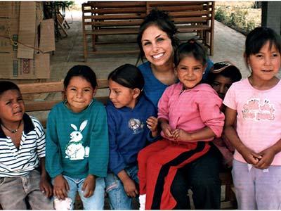 Dr Jamie with Tarahumara Indian kids in Mexico