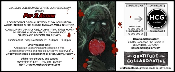 E Postcard - The Gratitude Collaborative Launching; Shows Off Horror Art for Charity!